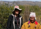 Maria and medicine man in Peru